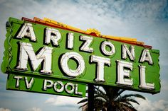 Arizona Motel Vintage Neon Sign - Tucson Arizona - Retro Home Decor - Road Trip Inspired - Vintage Wall Art - 8X12 Fine Art Photograph. $35.00, via Etsy.