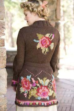 Ravelry: Коралловые розы куртка модель Микеле роз Орн