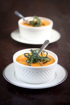 This Sundried Tomato and Butternut Squash Bisque is so creamy, you won't believe it's dairy-free (but don't worry, it is).
