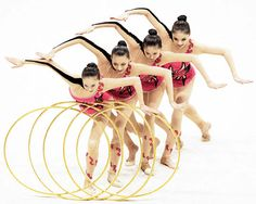 gymnastique rythmique avec cerceaux