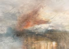 J.M.W.TURNER,  The Burning of the Houses of Parliament No.8, 1834