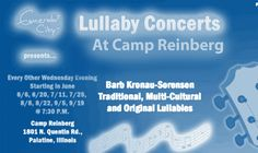 Are you looking for a way to unwind from a long day with your friends and family? If so, this may be the event for you! Come on by to Camp Reinberg to experience a lullaby concert from all around the world on Wednesday, June 20th at 7:30 pm!  For more information including ticket prices, check out www.barbsorensen.com. Emerald City, Ticket, Wednesday, June, The Originals, Concert, Friends, Music, Check