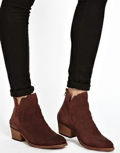 H By Hudson Mistral Rust Ankle Boots