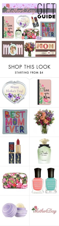 """""""FAB MOM (contest)"""" by nans-g ❤ liked on Polyvore featuring Casetify, Natural Life, Dolce&Gabbana and Deborah Lippmann"""
