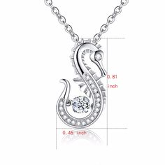 JO WISDOM 100% 925 Sterling Silver Pendant Necklace with Dancing Natural Topaz Wedding Pendant for Women Fine Jewelry