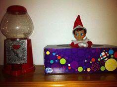 Elf on the Shelf Ideas - Tissue Peek a Boo