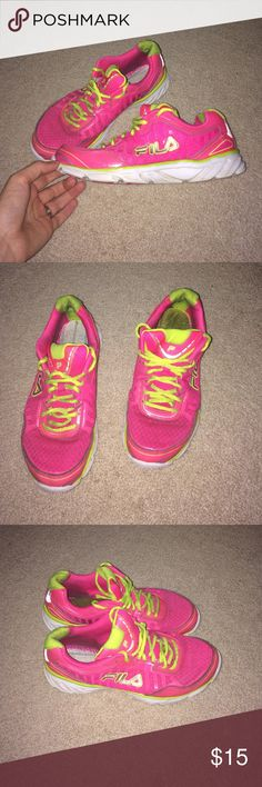 Fila running shoes! Good used condition! Some signs of wear, but they have lots of life left! Fila Shoes Sneakers