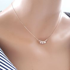 Dainty Rose Gold Beaded Snake Chain Necklace