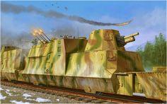 Kanonen und Flakwagen. Vincent Wai  Vagon fuertemente blindado, combinaba un cañon de campaña 10cm leFH 14/19 en una torreta y una plataforma antiaerea para un Flakvierling 38. además de contar con varias ranuras para las armas ligeras. Más en www.elgrancapitan.org/foro/