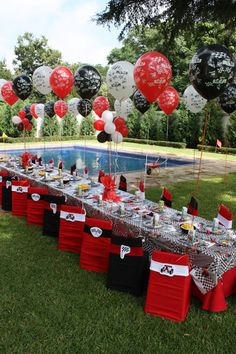 Trendy party themes for boys inspiration 56 Ideas Wwe Birthday, Race Car Birthday, Race Car Party, 1st Boy Birthday, Car Themed Parties, Cars Birthday Parties, Birthday Party Decorations, Ferrari Party, Wwe Party