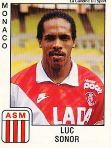 .LUC-SONOR As Monaco, Football Cards, Football Players, Vignettes, Soccer, France, Illustration, Image, Trading Cards