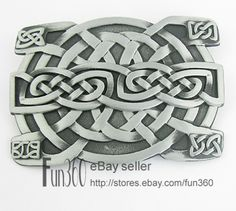Western Gothic Celtic Weave Celt Knot Irish Metal Belt Buckle Mens $4.69