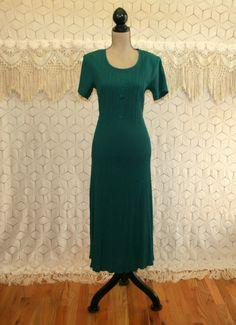 90s Dress Small Green Dress Spring Dress Short by MagpieandOtis