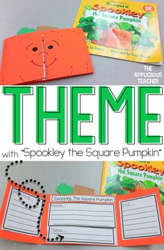 Helping students understand themes in stories using the classic Halloween story, Spookley the Square Pumpkin. Love this cute pumpkin freebie!