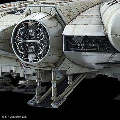 STAR WARS PLASTIC MODEL - Bandai Hobby Site Star Wars Ships, Star Wars Art, Star Trek, Plastic Model Kits, Plastic Models, Maquette Star Wars, Millennium Falcon Model, Nave Star Wars, Arte Alien
