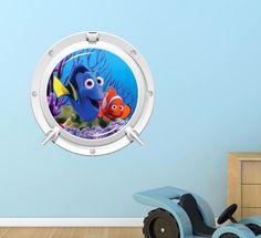 Fish Nemo Porthole Wall Sticker Mural Decor Wall by WallMakeoverUK