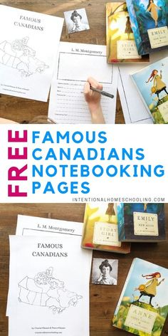 Famous Canadians Free Notebooking Pages - great for learning Canadian history History Free Notebooking Pages - Famous Canadians American History Lessons, Canadian History, Stem Activities, Learning Activities, Teaching Kids, Kids Learning, Canada For Kids, Canadian Social Studies, Homeschool Curriculum
