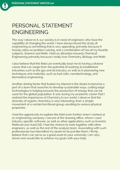 Need An Engineering Personal Statement Example Our Statement