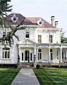 old house. get super rich and get a big house so we can make people come over to play croquet.