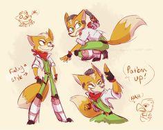 star fox| Tumblr Star Fox, Cute Games, Funny Games, Fox Mccloud, Fox Games, Funky Art, Furry Drawing, Fox Art, Super Smash Bros