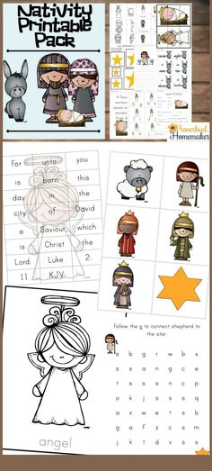 Download This Fun Nativity Printable Pack For Great Christmas Learning Activities And A Focus On Jesus