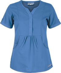 Butter-Soft Scrubs by UA - Solid Round Neck Top, Style # fashion, blue, Maternity Scrubs, Maternity Work Clothes, Maternity Dresses, Maternity Fashion, Stylish Scrubs, Scrubs Uniform, Medical Scrubs, Scrub Tops, Work Wear