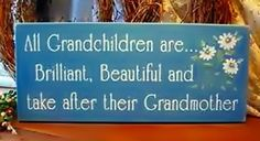 All grandchildren are brilliant, beautiful and take after their grandmother.