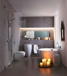 Every Small Bathroom Can Become Bigger : Small Space Bathroom Decor. Romantic Bathrooms, Modern Small Bathrooms, Modern Bathroom Design, Beautiful Bathrooms, Bathroom Interior, Bathroom Designs, Small Rooms, Bathroom Small, Cosy Bathroom