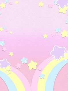 Flowery Wallpaper, Cute Wallpaper For Phone, Rainbow Wallpaper, Kawaii Wallpaper, Pastel Wallpaper, Pastel Background Wallpapers, Backgrounds Girly, Cute Wallpapers, Wallpaper Backgrounds
