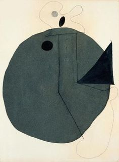 """Joan Miró    Collage  Montroig, Spain, late July–early October 1929  Conté crayon, ink, and flocked paper on paper, 28 15/16 x 22 1/16"""" (73.5 x 56 cm)"""