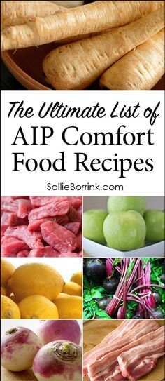 The Ultimate List of AIP Comfort Food Recipes - - The Ultimate List of AIP Comfort Food Recipes Elimination Diet AIP Comfort Food Recipes! This ultimate list of AIP recipes will help you find just what you need while healing on the Autoimmune Protocol! Dieta Aip, Paleo Autoinmune, Paleo Bacon, The Paleo Mom, Paleo Food, Eating Paleo, Real Food Recipes, Healthy Recipes, Tea Recipes