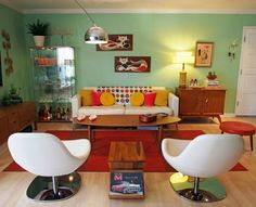 Proof that with a little imagination any space can be transformed into your own retro oasis.