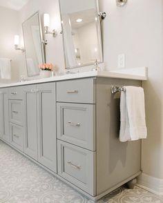 9 Bliss Hacks: Bathroom Remodel Grey Cabinets bathroom remodel diy back splashes.Bathroom Remodel Before And After Oak Cabinets bathroom remodel beach benjamin moore.Inexpensive Bathroom Remodel How To Paint. Bathroom Mirror Design, Bathroom Renos, Bathroom Colors, Bathroom Mirrors, Bathroom Ideas, Bathroom Updates, Bathroom Designs, Mirror Vanity, Painted Bathroom Cabinets