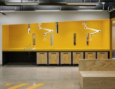 Gallery of MIT Beaver Works / Merge Architects - 4 - Gelb Pop Design, Design Lab, Sketch Design, Design Concepts, Graphic Design, Innovation Lab, Innovation Centre, Store Window Displays, Co Working