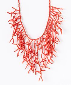 Look at this ZAD Coral Branch Bib Necklace on #zulily today!