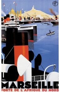 Air France Art Deco period poster #marseille #france #mediterranean