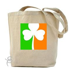Flag Of Ireland Shamrock Irish Tote Bag