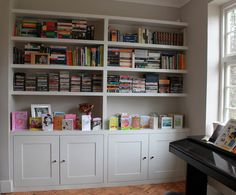 Fitted furniture for London - Fitted Wardrobes, Alcove Cupboards, Bespoke Bookcases, bookshelves and fitted bedroom furniture Bookshelves Built In, Diy Furniture Ikea, Shelves, Mdf Cabinets, Living Room Storage, Built In Cupboards, Bookshelves, Bookcase Diy, Alcove Shelving