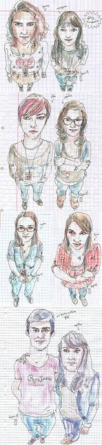 class portraits by lapin barcelona, via Flickr