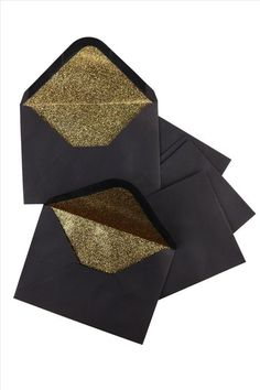 envelope pk 10 BLACK & GOLD (for invitations)