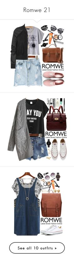 """""""Romwe 21"""" by oshint ❤ liked on Polyvore featuring Forever 21, Borghese, Rick Owens, Vans, The Cambridge Satchel Company, I Love Ugly, Mulberry, Converse, Bobbi Brown Cosmetics and Calvin Klein"""