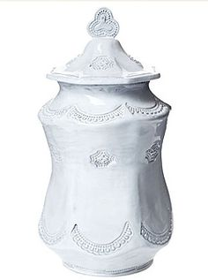 "VIETRI - 'Incanto' Collection - ""Lace"" Large Canister, 5.5x11.25"" 