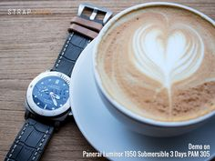 Panerai PAM305 . MiLTAT Antipode strap . Great coffee. Made my day #strapcode #MiLTAT