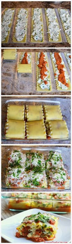 Lasagna Rolls Ingredients:     12 uncooked lasagna sheets     2 Tbsp extra virgin olive oil     1/2 lb ground turkey/ ground beef ...