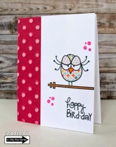 Tracy Mae Design: Happy Bird-day // The Alley Way Stamps, stamping, TAWS, Birds of A Feather, clear stamps