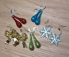'Twas the night before Christmas, and you were looking for a last minute gift idea. Well these Stocking Stuffer Earrings couldn't be simpler to make! Make Christmas earrings and have them hung by the chimney with care in a matter of minutes.