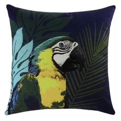 Shop for comfortable cushions and decorative pillows at Maisons du Monde. Find the perfect style for your home and buy online today. Motif Jungle, Jungle Print, Outdoor Cushions, Outdoor Rugs, Jungle Bedroom, Couch Cushion Covers, Textile Pattern Design, Wood Trunk, Yellow Cushions