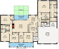 Stately Home Plan with Bonus Room - 84056JH | 1st Floor Master Suite, Acadian, Bonus Room, Butler Walk-in Pantry, Corner Lot, Den-Office-Library-Study, European, French Country, PDF, Southern, Split Bedrooms | Architectural Designs