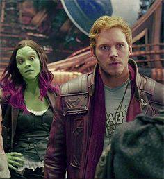 Like husband like wife Starlord And Gamora, Chris Pratt, Loki Marvel, Marvel Heroes, Gardians Of The Galaxy, Marvel Movies, Marvel Characters, Star Lord, Marvel Entertainment