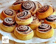 Fincsi receptek: Kakaós-fahéjas csiga Hungarian Recipes, Hungarian Food, Sweet And Salty, Cheesecake, Muffin, Breakfast, Morning Coffee, Hungarian Cuisine, Cheesecakes
